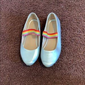 Old Navy silver flats with Rainbow strap